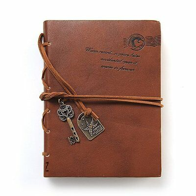 Newcreativetop Leather Writing Journal Notebook,Classic Key Bound Retro Vintage