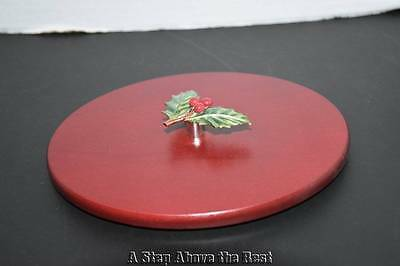 Longaberger '11 Red Little Holly Berry Tree Trimming Woodcraft Lid #5144722 NEW