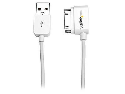 StarTech USB2ADC50CML White Short USB Left Angle Cable for iPhone / iPod / iPad
