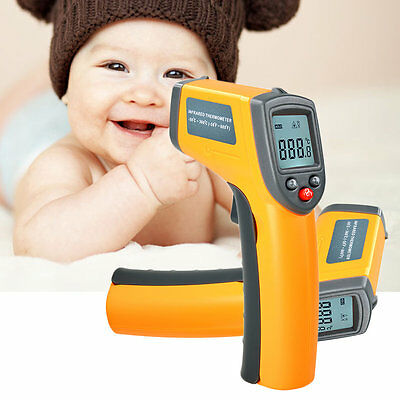 New LCD Digital IR Infrared Thermometer Temperature Meter Non Contact Laser VB