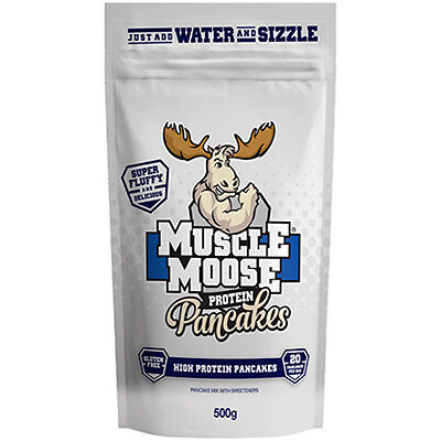 Muscle Moose Protein Pancakes 500g High Protein Healthy Breakfast Whey & Pea