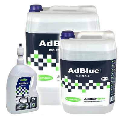 Greenchem AdBlue for ALL Commercial and Automotive Vehicles from 4L - 1000L