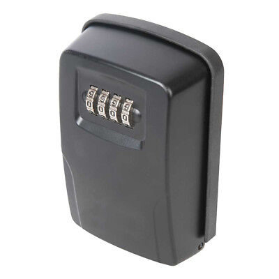 Outdoor Wall Mounted Security Safe Key Box Combination 4 - Digit Lock Home Car
