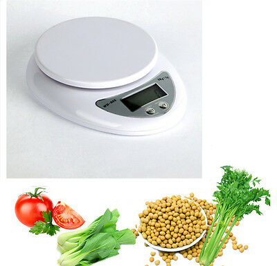 5KG Digital Weighing Postal LCD Electronic Kitchen Household Scale Food GV