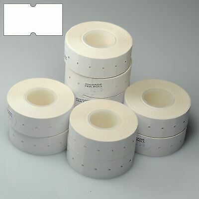 10,000 (8 Rolls) White Best Before Peelable Plain CT1 22 x 12mm Pricing Labels