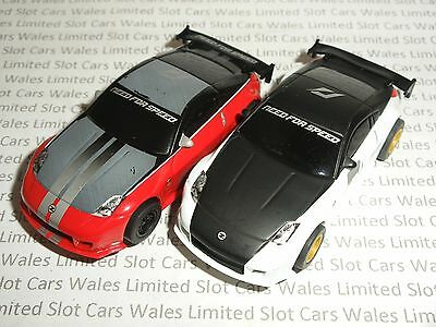 MICRO Scalextric - Pair of Need For Speed Nissan 350Z - Exc. Cdn.