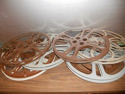 16mm Take-Up/Film/Movie Empty Reels ~ Lot of 8 ~ 1600' ~ Use OR Steampunk/Decor