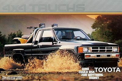 1986 Toyota 4x4 Gas Turbo SR5 Xtracab Sport Pickup Truck Factory Postcard my1320