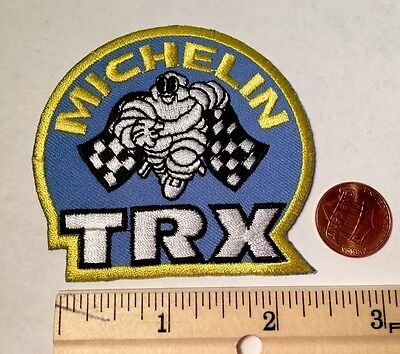"""Michelin Trx Tires Sport Racing Flag Patch*embroidered Iron On*michelin Man*2.5"""""""