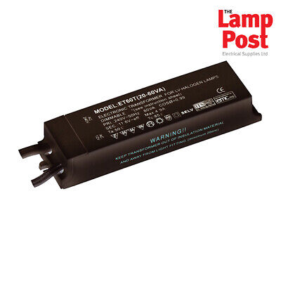 Saxby ET60R - 12V Lighting Transformer 20W - 60W Dimmable