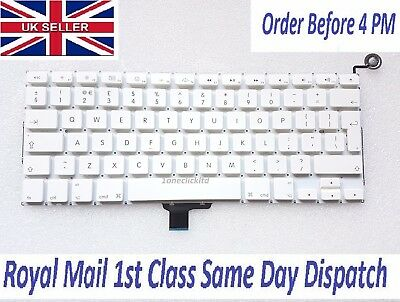 "Apple MacBook Unibody A1342 13"" Keyboard UK Layout Power Button without Backlit"