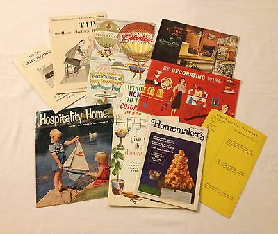 9 Vintage Home Decor Decorating Advertising Booklets Pamphlets 1950's and 1960's