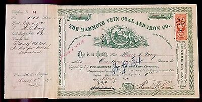 1870 Mammoth Vein C&I SB Henry C. Carey ABRAHAM LINCOLN'S CHIEF ECONOMIC ADVISOR