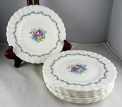 8 Royal Doulton China The Chelsea Rose Bread & Butter Plates