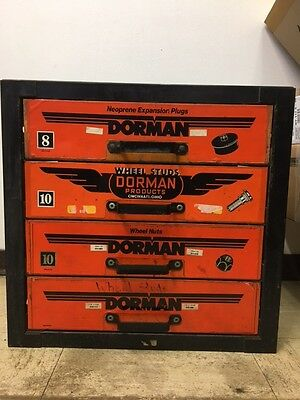 Vintage Dorman Auto Metal Parts Storage Bin Drawers Cabinet **local Pickup Ny*