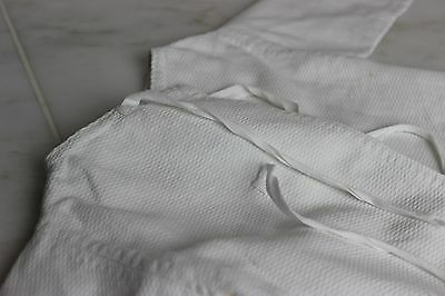 Antique Baby Jacket White Cotton with Center Front Ties Antique Childs Coat