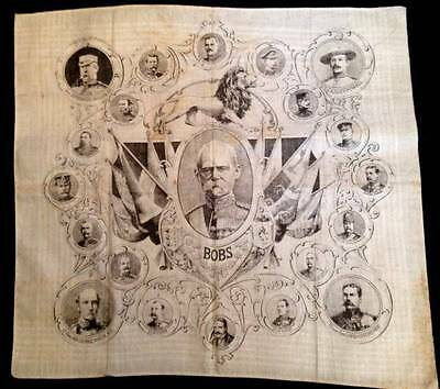 Antique Boer War Lord Roberts Major Military Leaders Handkerchief Rare Africa