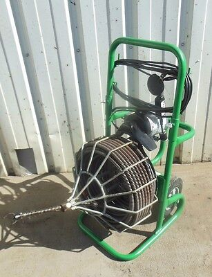 ELECTRIC EEL MODEL R 3/4 x 100' POWERED PORTABLE DRAIN CLEANER SEWER SNAKE