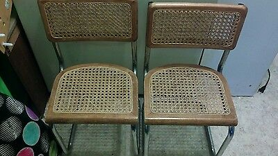 Look Vintage Kids Set Of  Metal And Wicker Woven Style Chair Wooden Metal Chair