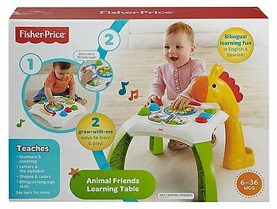 NEW Fisher Price CCP66 Animal Friends Learning Table