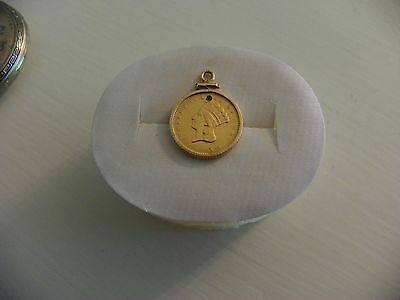 1856 One Dollar Indian Princess Coin.... Gold Coin With Bezel......rare