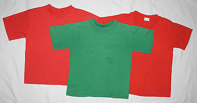 3 T-Shirts Boys Size M Red Green Lot