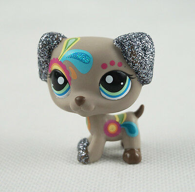 Littlest Pet Shop LPS #2344 Sparkle Tattoo Dalmatian Dog Glitter Puppy Gift Toys