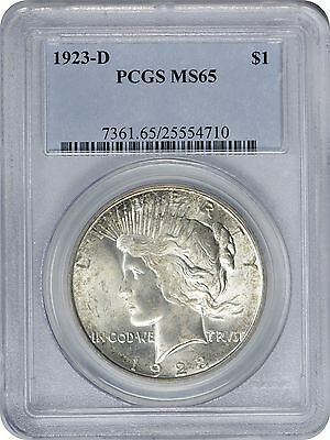 1923-D Peace Dollar MS65 PCGS Mint State 65