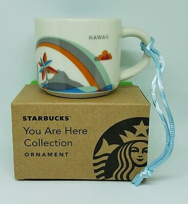 "Starbucks ""You are here""  Hawaii 2016 Version Ornament Demi 2 oz. - Brand New!"