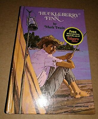 Vintage huckleberry Fin book Special Folgers Coffee Promo 1970 very nice shape