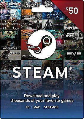 Steam Wallet $50 Gift Card