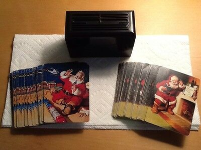 Coca Cola Christmas Beverage Playing Cards,2 Decks with KEM Case