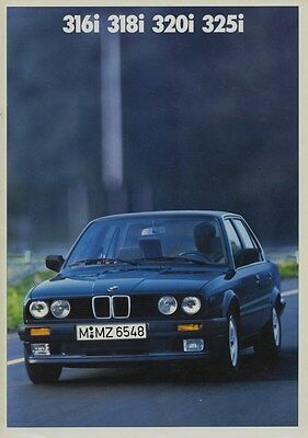 1988 BMW 316i 318i 320i 325i Brochure German d0822