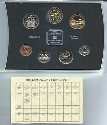 2000 Royal Canadian Mint 7 Coin Specimen Set With Case, Box And Coa