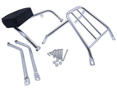 Sissy Bar with pad and carrier drivers, Kawasaki VN 900 Classic 2006-