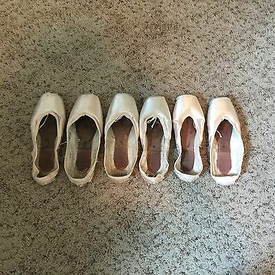 Bloch Pointe Shoes 5.5 X Used 3 Pairs Total