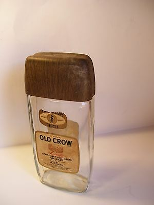 Vintage 67-70 Old Crow Whiskey Empty Traveler Fifth Decanter