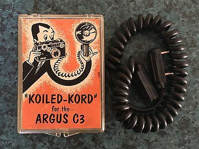 "Vintage "" Koiled-Kord"" For The Argus  C3 Camera ~ New In Case"
