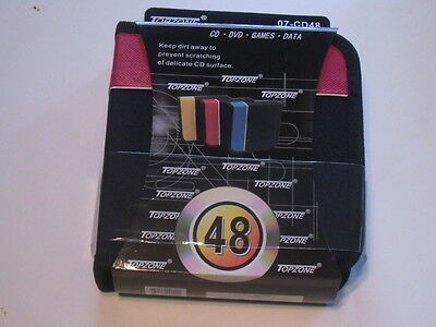 Cd / Dvd Case Wallet Holder Discs Holds 48 Discs Red Walet /@@see My Other Items