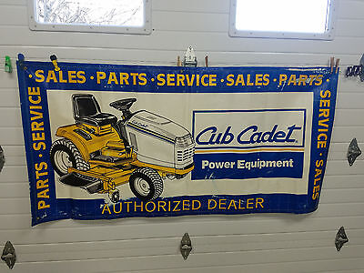 Cub Cadet Authorized Dealer  Tractor Lawn Mower Man Cave Vinyl Banner Sign
