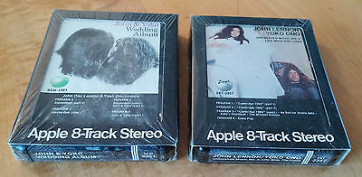 John & Yoko 8-Track Stereo Wedding Album+Unfinished Music #2 Life With The Lions