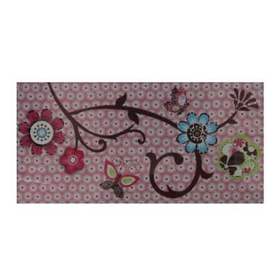 CoCaLo Baby 3510 Pink Canvas Baby Girl Nursery Flower Wall Decor BHFO