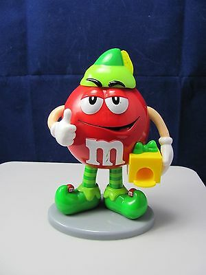 "M&m's Red Christmas Elf Candy 8"" Dispenser Mint"