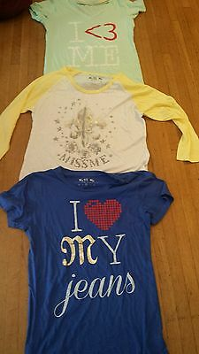 NEW Miss Me T Shirts  tees Long Sleeve assorted styles LOT OF 3. Sz: M