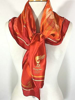 "Beijing Red, Orange & Yellow Silk Scarf 35"" x 34"""