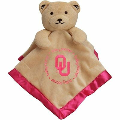 Oklahoma Sooners Baby Infant Girl Pink Snuggle Security Blanket (FREE SHIPPING)