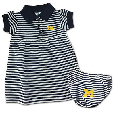Michigan Wolverines Baby Infant Girl Creeper Dress (FREE SHIPPING) 3-6 mo