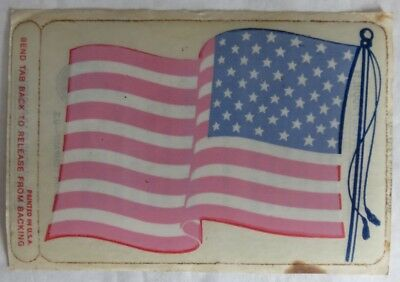 Vintage Unused Gulf American Flag Sticker                   (Inv13177)
