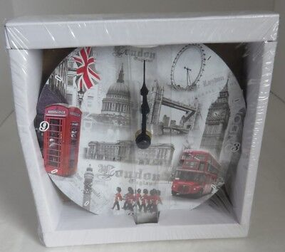 Lesser And Pavey Lp16586 London Wall Clock - Battery Operated         (Inv13159)