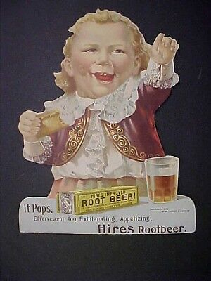 HIRES ROOT BEER Ugly Kid 1892 Household Extract Standup Store Sign Display